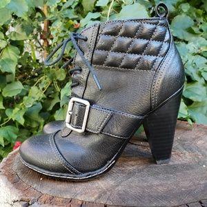 Shoes - Solesenseability Black Heeled Booties